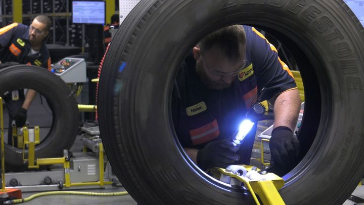 The best time to pull a tire for retreading, according to the Tire Retread & Repair Information Bureau (TRIB) is at 6/32nds. This depth helps ensure the tire casing is in top shape. The legal limit is 2/32nds on dirve or trail positions and 4/32nds on steer positions.  - Photo: TRIB