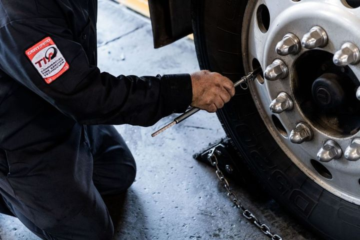 Keeping truck tires properly inflated is one of the most crucial elements in any tire maintenance and management program.  - Photo: TA Truck Service