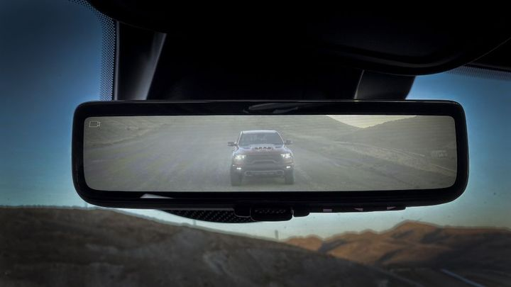 Ram's Blind-Spot Monitoring and digital rearview mirror promotes safety, as well as lower the total cost of ownership by helping avoid incidents and related expenses.  - Photo: FCA North America