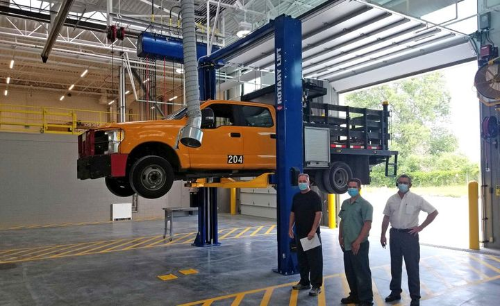 The potential return-on-investment (ROI) for a truck lift varies on the lift purchased and services provided. - Photo: Rotary Lift
