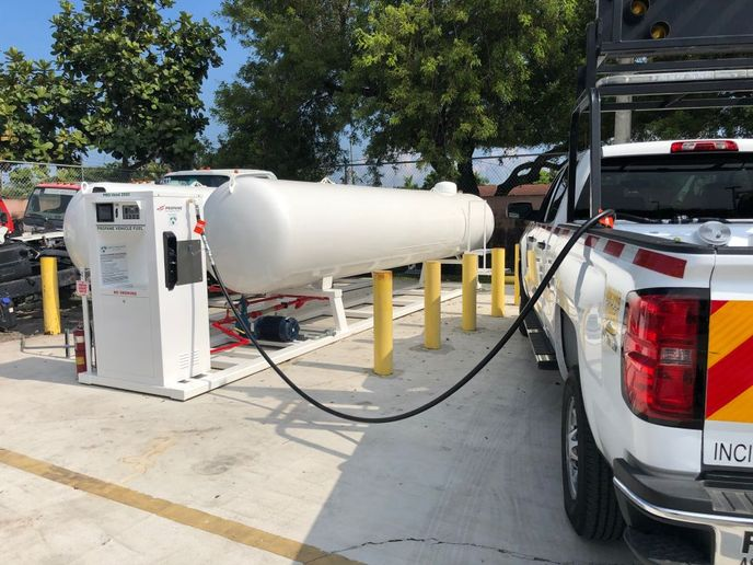 Advanced propane autogas dispensers, like the Superior Energy Systems PRO-Vend 2000 shown here, are fully integrated and customizable web-based units. - Photo: Superior Energy Systems