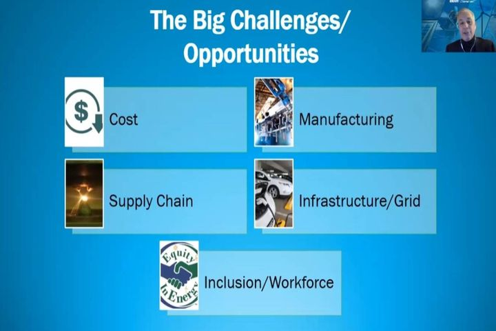 Berube discussed big challenges that could also be opportunities.  - Photo: DOE