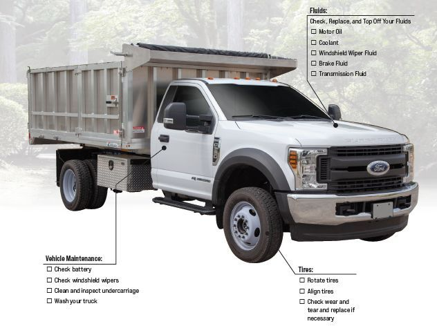 Monroe Truck Equipment put together a checklist to help you ensure your truck is in tip-top shape and ready for the spring season. - Photo: Monroe Truck Equipment