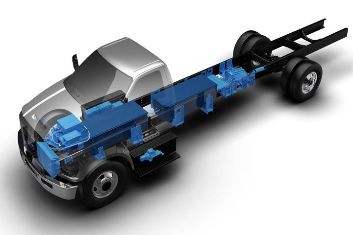 Ford F-650 battery electric vehicle - Photo: Roush CleanTech