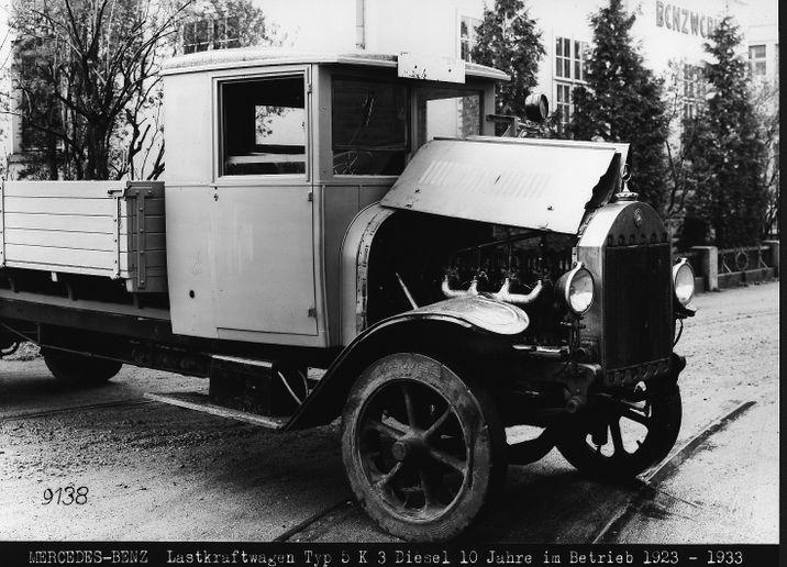 Truck Benz 5 K 3 with Diesel Engine OB 2 - Photo:Daimler Truck AG
