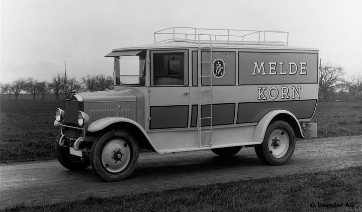Mercedes-Benz L5 Truck with Engine OM5 since 1927 - Photo:Daimler Truck AG