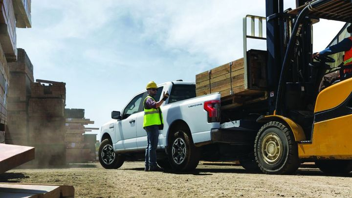 When the job calls for towing or hauling, the Ford F-150 Lightning Pro, an all-electric truck is one possible choice. - Photo: Ford