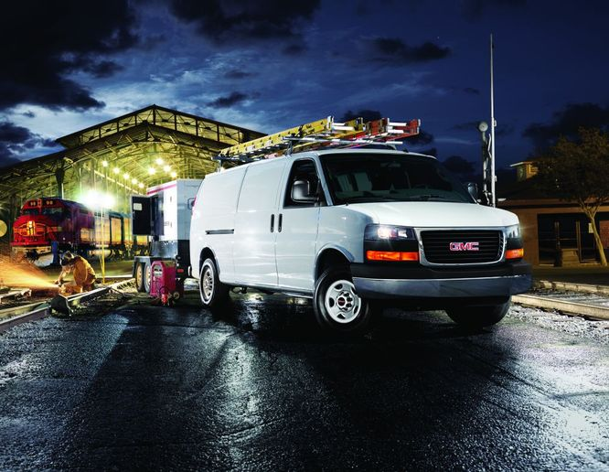 Vans like the 2022 GMC Savana have cargo space that can be secured to keep valuables safe from the elements and theft. - Photo: General Motors