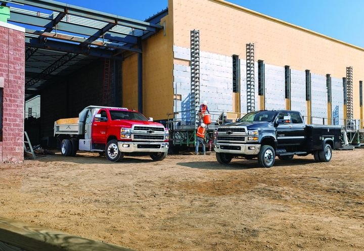 Trucks like the 2021 Chevrolet Silverado 5500 HD and 6500 HD Chassis Cab Crew Cab are workhorses built for hauling, trailering, and towing across all terrains. - Photo: General Motors