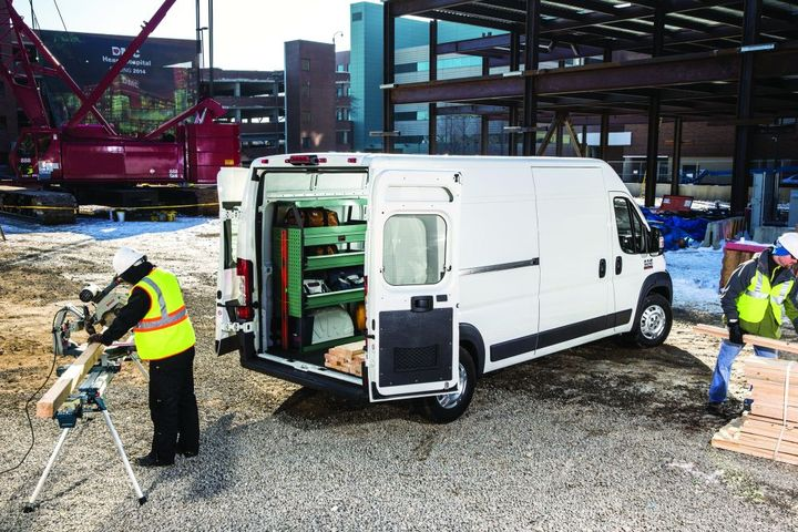 The 2021 Ram ProMaster van can haul a heavy payload, but is less proficient at towing heavy trailers. - Photo: Ram