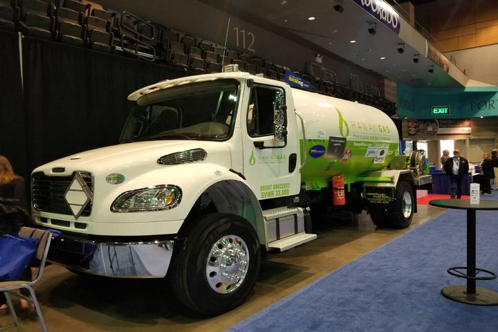 The company's trucks are used for propane gas delivery, pipeline repair and maintenance applications, customer residential services, and internal-use applications. - Photo: Hawaii Gas