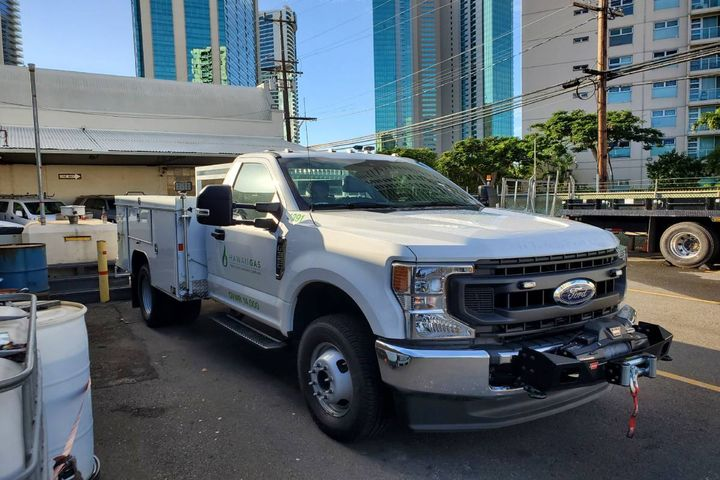 Spec'ing trucks to promote worker safety and productivity is a priority for the company.  - Photo: Hawaii Gas