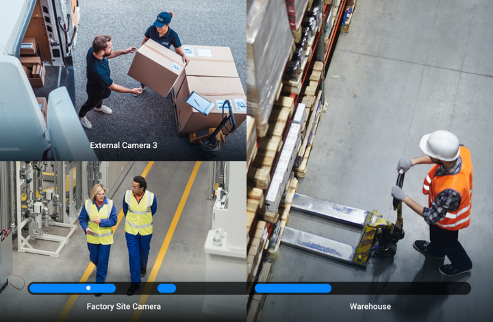 This has already revolutionized driver safety by making it possible to alert drivers and prevent incidents before they occur. Now, many organizations are extending this proactive approach beyond the cab. For example, applying the same AI used in dash cams to IP security cameras, preventing unsafe workplace incidents within warehouses and other on-site facilities - Photo: Samsara