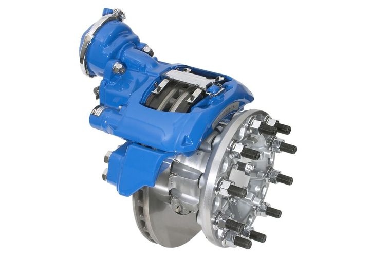 Because air disc brake performance and life affect the effectiveness of higher-level safety technologies like full-stability and collision mitigation, keeping ADBs in peak operating condition for as long as possible plays an important role in any fleet or owner-operator's safety efforts. - Photo: Bendix