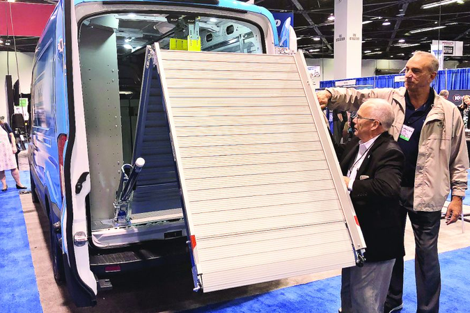 The NIVO upfit includes an aluminum bifold ramp for loading and off-loading material from the...
