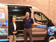 Standing in front of the customized tool chest are (L-R) Dalton Cheaney, fleet account executive...