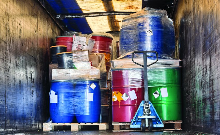 "Although some vehicles carrying hazardous materials may look like this, some ""everyday items"" may also fall under hazmat regulations. 