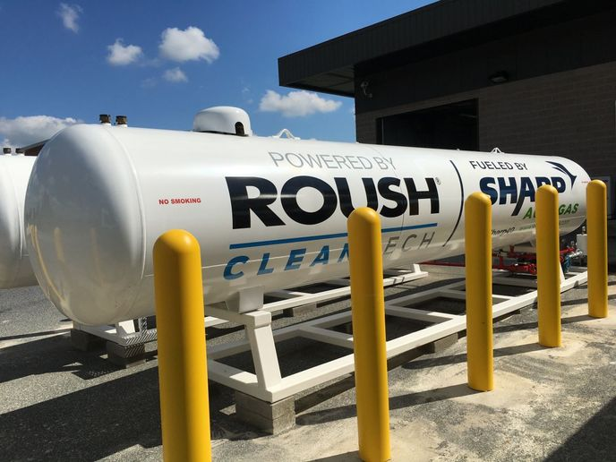 Propane autogas fueling infrastructure costs less than any other transportation energy source — conventional or alternative. - Photo: ROUSH CleanTech
