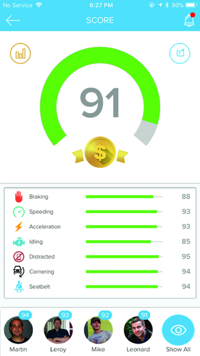 Using a scorecarding system can help drivers better see where improvement is needed as well as compete with other drivers for top driver safety scores. Apps allow drivers to see key info any time. 