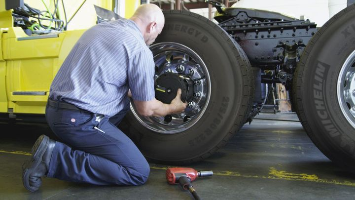 Tire technology changing today's fleets includes devices such as Aperia Technologies' Halo automatic tire inflation system.  - Photo: Aperia Technologies