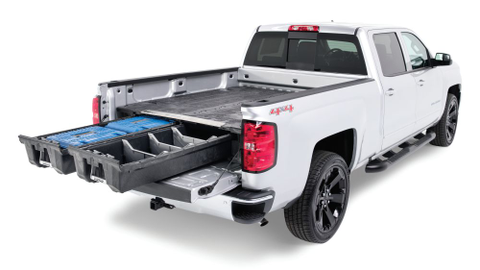 DECKED's low-profile truck bed tool box system is compatible with Ford F-150, Ford F-250, Ram...