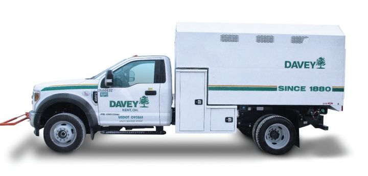 Knapheide works with partners such as The Davey Tree Experts to come up with solutions and product designs to fit their needs. This is a newly built and upfitted Knapheide Forestry Body on a Ford F-550 chassis. This 24-yard-capacity body has a modified safety cone holder in the front, a coal tar-lined interior, a standard L pack forestry compartment design, and an extreme security forestry package.