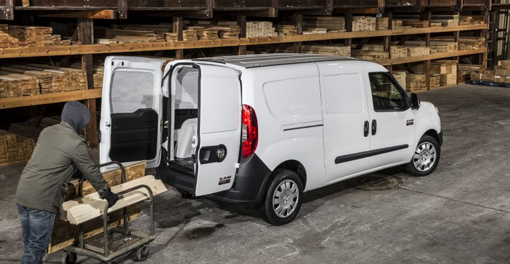 "The Ram ProMaster City Tradesman Cargo exemplifies the low load floor height afforded by compact, ""Euro""-style vans.