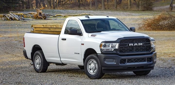 The Ram Trucks 2500/3500 Heavy-Duty Pickup is available with a 6.4L HEMI V-8 gas engine.