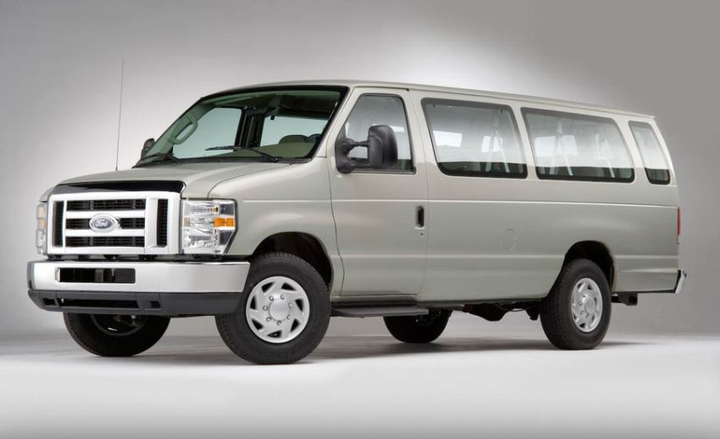 The E-Series models comprise a Commercial Van; a Recreational Van; an XL, XLT, and Chateau Wagon; and a Cutaway and Stripped Chassis (both offer three wheelbases).  - Photo courtesy of Ford Motor Co.