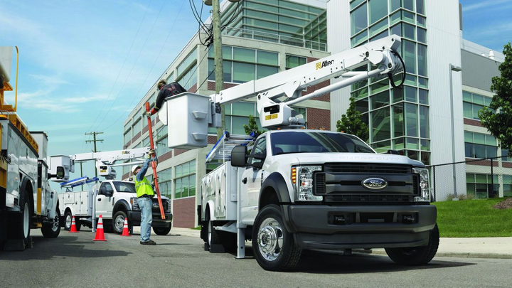 A perennial favorite, the Ford F-550 Super Duty chassis cab was named Work Truck's Commercial Truck of the Year. 