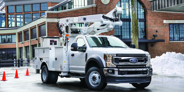 The 2020 Ford F-600 was unveiled at The Work Truck Show 2019 in Indianapolis