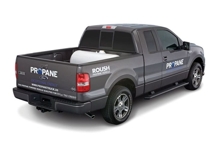 High fuel prices and environmental concerns continue to spark new alternative-fuel vehicle choices. The latest: dedicated propane-powered Roush F-150 LPI pickups, available this spring with delivery this fall.  - Photo courtesy of Roush CleanTech