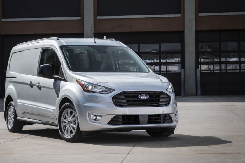The 2019 Ford Transit Connect compact van offers easier access to cargo.