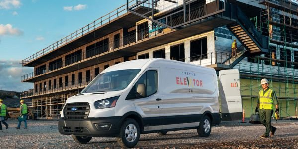 The up to 11,000-pound GVWR Transit features a payload of up to 6,400 pounds and max towing of...