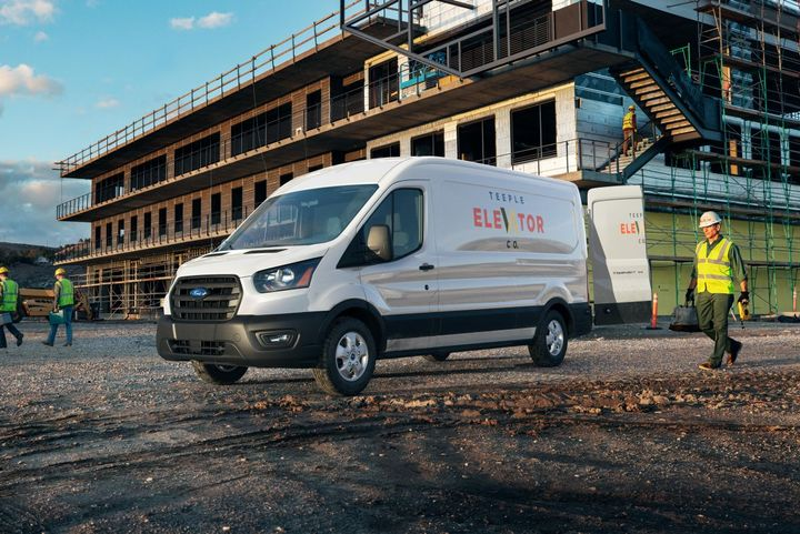 The up to 11,000-pound GVWR Transit features a payload of up to 6,400 pounds and max towing of 7,500 pounds.  - Photo: Ford Motor Co.
