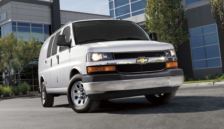 The Chevrolet Express is available in 3500 and 4500 models.  - Photo courtesy of General Motors