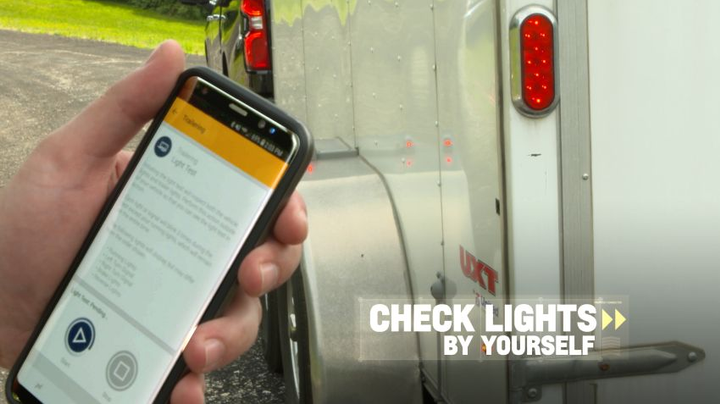 The brand-new myChevrolet smartphone app allows the driver to conduct a trailer light test, which uses an automatic exterior light sequence to confirm that the trailer is properly connected.