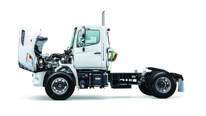 The Hino XL7 and XL8 models are powered by Hino's A09 turbodiesel 8.9L inline six-cylinder engine.