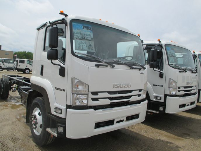In 2018, ICTA debuted a crew cab version of its Class 5 NRR that can carry up to seven passengers. The NRR Crew Cab has a 19,500-pound GVWR. It is the largest crew cab in the Isuzu product portfolio. Pictured is of an NRR Crew Cab with stake body configuration. 