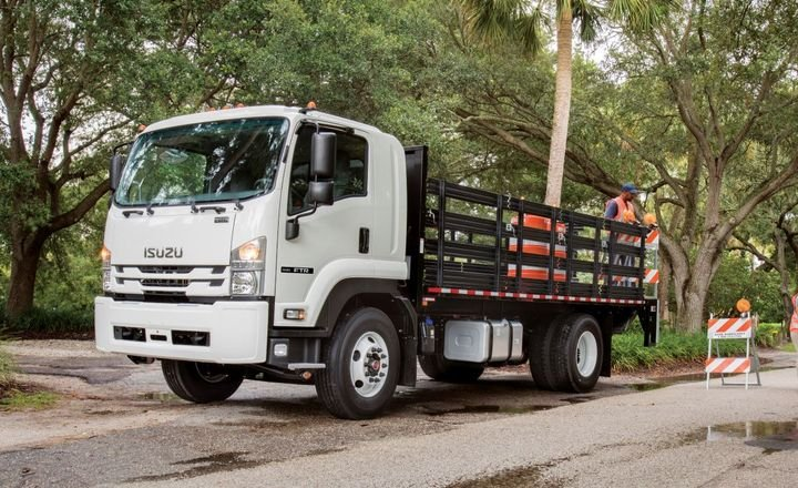 Isuzu's Class 4-6 lineup — including the NPR-HD, NPR-XD, NQR, NRR, and FTR — is powered by the 5.2L Isuzu 4HK1-TC turbocharged intercooled diesel engine.  - Photo: Isuzu Commercial Truck of America