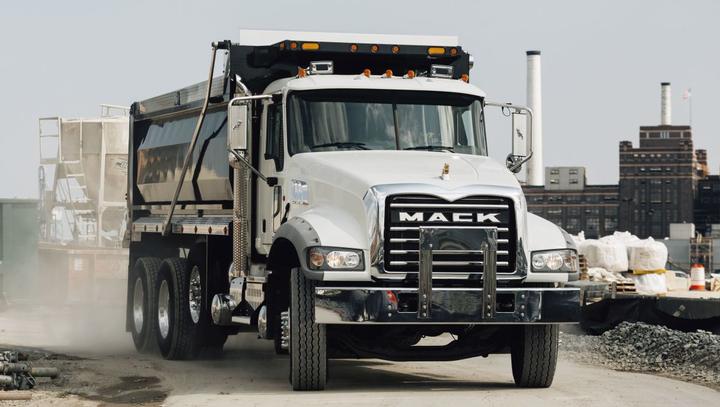 The Mack Granite MHD can be spec'ed as a Class 7 or Class 8 model.  - Photo: Mack Trucks