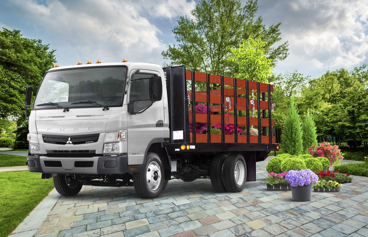 All three of Mitsubishi Fuso's medium-duty models are powered by a 6.0L V-8 engine.  - Photo: Mitsubishi Fuso Truck of America