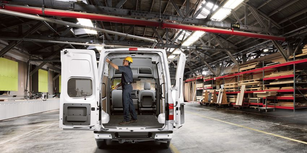 Full-size vans such as the Nissan NV Cargo combine heavy-duty capacity with an enclosed cargo...