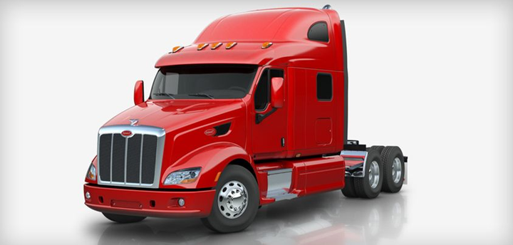 Peterbilt offers the Model 587 in its heavy-duty truck lineup.