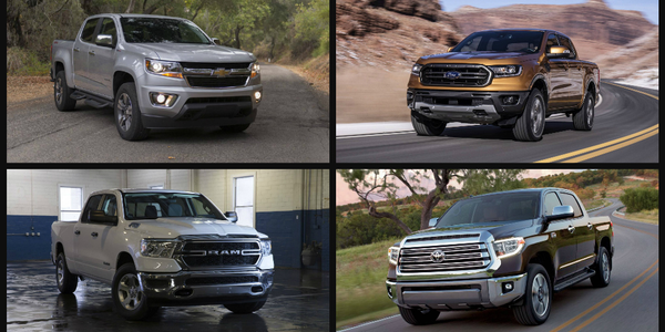 """Of the 11 trucks deemed suitable for """"work truck applications,"""" the Toyota Tacoma came in as the..."""