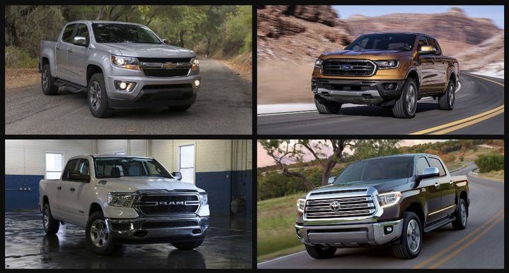 """Of the 11 trucks deemed suitable for """"work truck applications,"""" the Toyota Tacoma came in as the lightest truck at only 5,400 pounds. The Ford F-150 came in with the highest possible towing capability at 13,200 pounds. The Ford F-150 features the top possible payload at up to 3,270 pounds, when properly equipped.The Nissan Titan came in as the heaviest truck starting at 7,100 pounds.  - Photos courtesy of General Motors, Ford, Ram, and Toyota."""
