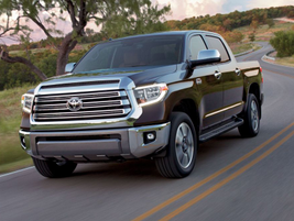 The 2019 Toyota Tundra features an all V-8 engine lineup in its four-door Double Cab and...