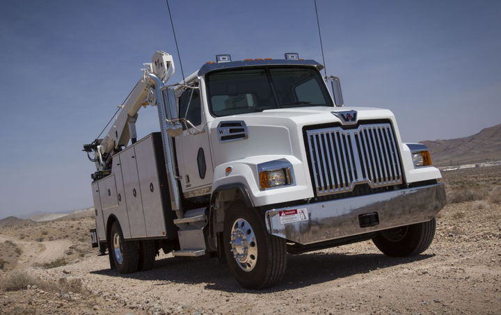 New features include Wabco OnGuard, which tracks vehicles and objects in the truck's path and automatically applies the brake.  - Photo: Western Star