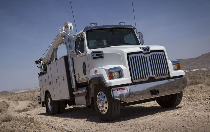 New features include Wabco OnGuard, which tracks vehicles and objects in the truck's path and automatically applies the brake.
