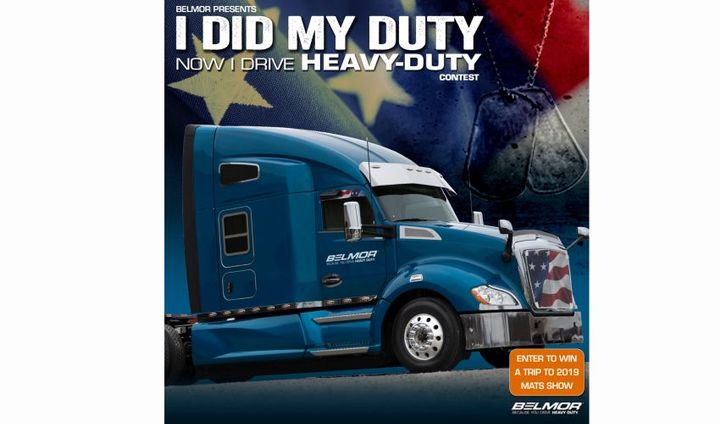 Contest entry is open to U.S. veterans, 21 years of age or older who are currently employed as a commercial truck driver.